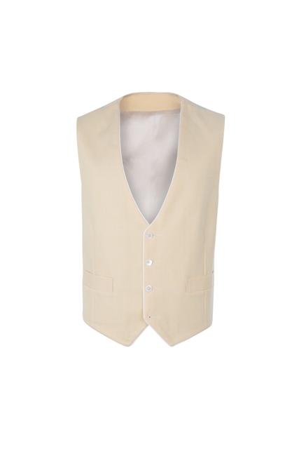 Peregrine Jude Yellow Linen Reversible Wedding Waistcoat