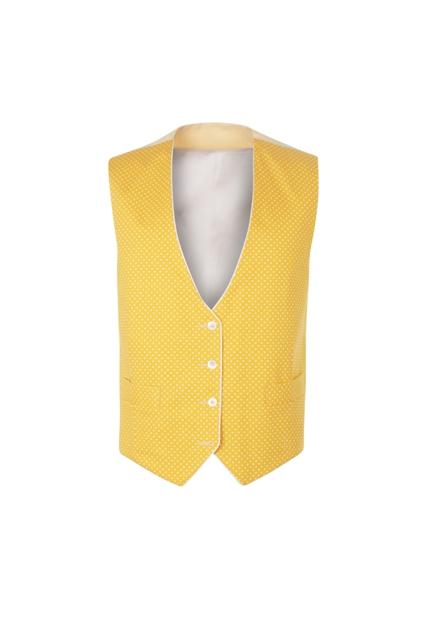 Peregrine Jude Yellow Reversible Linen Wedding Waistcoat