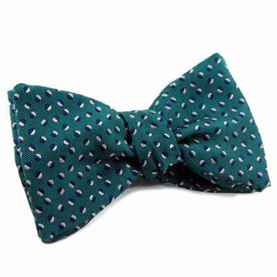 Jade silk bow tie