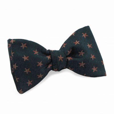 Green Coral Silk Bow Tie starfish