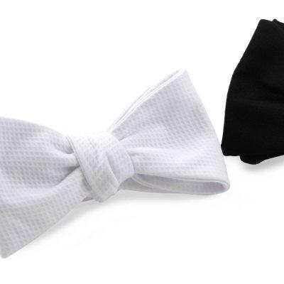 Marcella Cotton White Tie Bow Tie Peregrine Jude