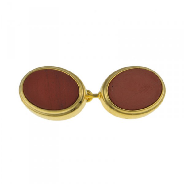 Gold Jasper Chain Cufflinks