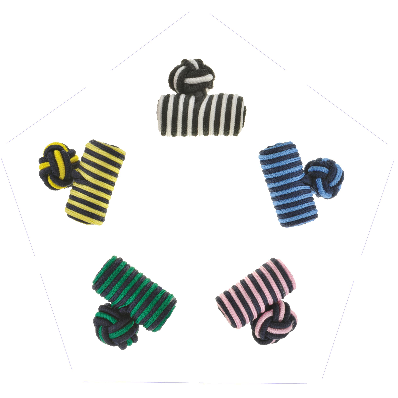 Striped Barrel Cufflinks